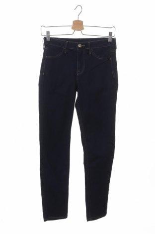 Дамски дънки H&M, Размер XS, Цвят Син, 70% памук, 18% полиестер, 11% вискоза, 1% еластан, Цена 12,60лв.