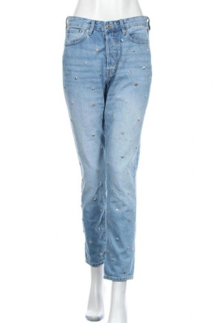 Дамски дънки H&M, Размер M, Цвят Син, Памук, Цена 23,52лв.