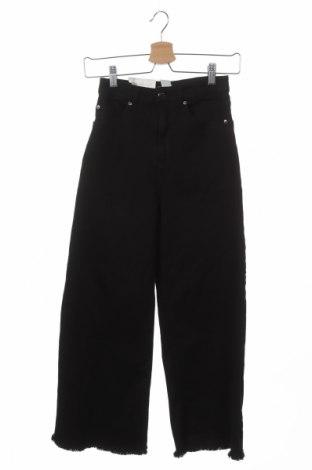 Дамски дънки H&M, Размер XS, Цвят Черен, 98% памук, 2% еластан, Цена 21,84лв.