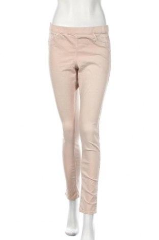Дамски дънки H&M, Размер L, Цвят Бежов, 71% памук, 26% полиестер, 3% еластан, Цена 13,86лв.