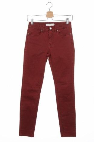 Дамски дънки H&M L.O.G.G., Размер XS, Цвят Червен, Цена 24,00лв.