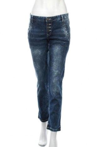 Дамски дънки John Baner, Размер S, Цвят Син, 76% памук, 16% полиестер, 7% вискоза, 1% еластан, Цена 11,34лв.