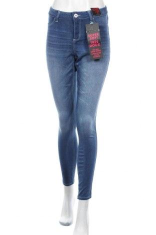 Дамски дънки Jordache, Размер XL, Цвят Син, 67% вискоза, 323% полиестер, 1% еластан, Цена 38,59лв.