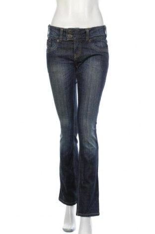 Дамски дънки Lindex, Размер M, Цвят Син, 99% памук, 1% еластан, Цена 16,72лв.