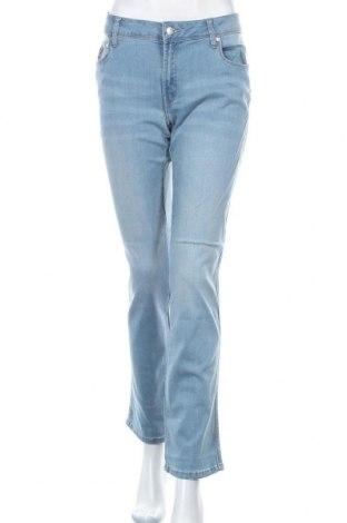Дамски дънки Lois, Размер XL, Цвят Син, 75% памук, 20% полиестер, 5% еластан, Цена 81,75лв.