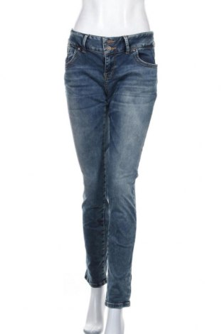Дамски дънки Ltb, Размер M, Цвят Син, 79% памук, 17% полиестер, 4% еластан, Цена 21,42лв.