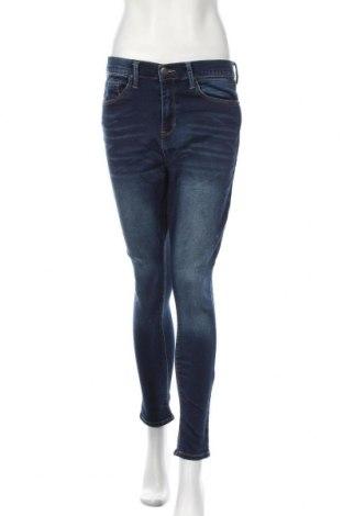 Дамски дънки Mudd, Размер L, Цвят Син, 71% памук, 28% полиестер, 1% еластан, Цена 14,70лв.