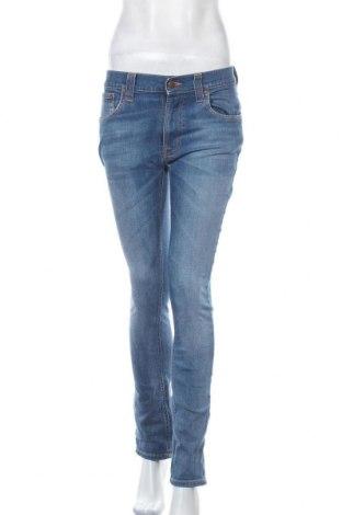 Дамски дънки Nudie Jeans Co, Размер M, Цвят Син, 99% памук, 1% еластан, Цена 18,38лв.