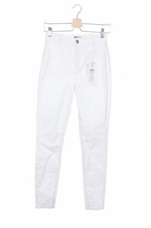 Дамски дънки ONLY, Размер M, Цвят Бял, 92% памук, 6% полиестер, 2% еластан, Цена 16,18лв.
