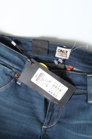 Дамски дънки ONLY, Размер S, Цвят Син, 98% памук, 2% еластан, Цена 25,74лв.