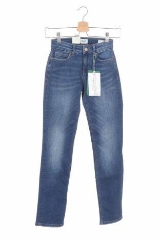 Дамски дънки ONLY, Размер XS, Цвят Син, 90% памук, 10% еластан, Цена 16,74лв.