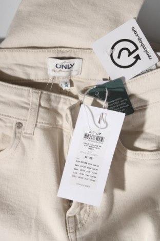 Дамски дънки ONLY, Размер M, Цвят Екрю, 92% памук, 8% еластан, Цена 18,32лв.