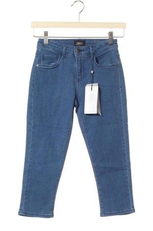 Дамски дънки ONLY, Размер XS, Цвят Син, 53% вискоза, 29% памук, 17% полиестер, 1% еластан, Цена 13,02лв.