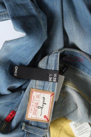 Дамски дънки ONLY, Размер XL, Цвят Син, 98% памук, 2% еластан, Цена 24,84лв.
