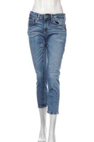 Дамски дънки Pepe Jeans, Размер M, Цвят Син, 99% памук, 1% еластан, Цена 27,30лв.