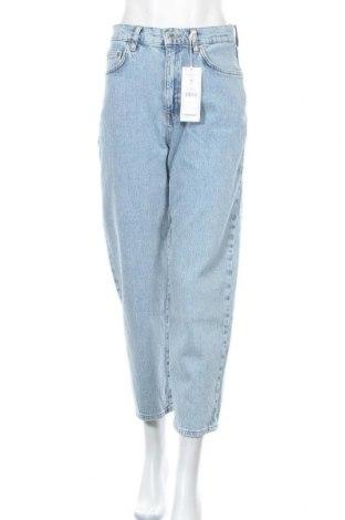 Дамски дънки Perfect Jeans By Gina Tricot, Размер M, Цвят Син, 99% памук, 1% еластан, Цена 30,36лв.