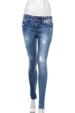 Дамски дънки R.Display, Размер M, Цвят Син, 95% памук, 5% еластан, Цена 15,46лв.