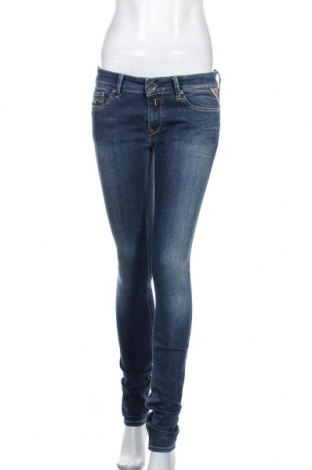 Дамски дънки Replay, Размер M, Цвят Син, 91% памук, 8% други тъкани, 1% еластан, Цена 51,45лв.