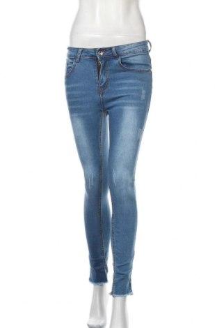 Дамски дънки SHEIN, Размер S, Цвят Син, 85% памук, 13% полиестер, 2% еластан, Цена 10,29лв.