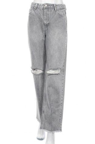 Дамски дънки Trendyol, Размер M, Цвят Сив, Памук, Цена 44,25лв.