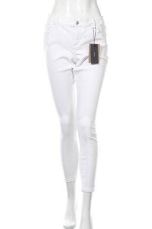 Дамски дънки Vero Moda, Размер L, Цвят Бял, 91% памук, 7% полиестер, 2% еластан, Цена 19,93лв.