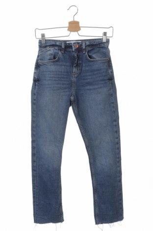 Дамски дънки Zara, Размер XS, Цвят Син, Цена 24,99лв.