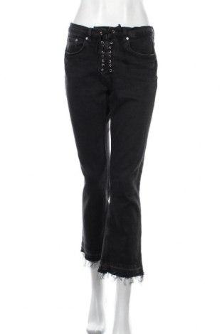 Дамски дънки Zara, Размер L, Цвят Черен, 99% памук, 1% еластан, Цена 36,75лв.