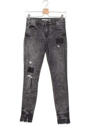 Дамски дънки Zara Trafaluc, Размер XS, Цвят Сив, 98% памук, 2% еластан, Цена 16,07лв.