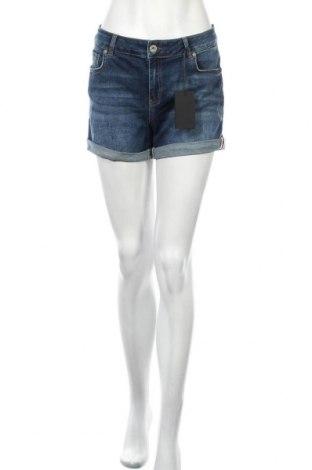 Γυναικείο κοντό παντελόνι, Μέγεθος M, Χρώμα Μπλέ, 97% βαμβάκι, 3% ελαστάνη, Τιμή 10,17€