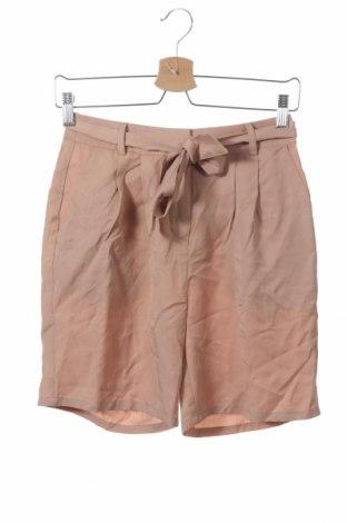 Дамски къс панталон Ichi, Размер XS, Цвят Бежов, Лиосел, Цена 20,06лв.