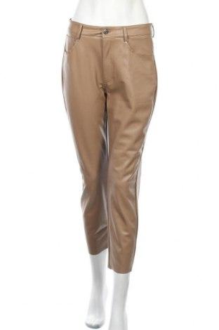 Дамски кожен панталон ONLY, Размер L, Цвят Кафяв, Еко кожа, Цена 16,35лв.