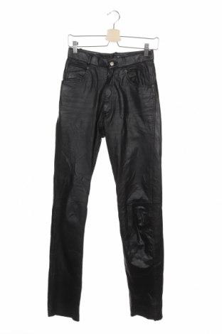 Дамски кожен панталон Raberg, Размер S, Цвят Черен, Естествена кожа, Цена 21,32лв.