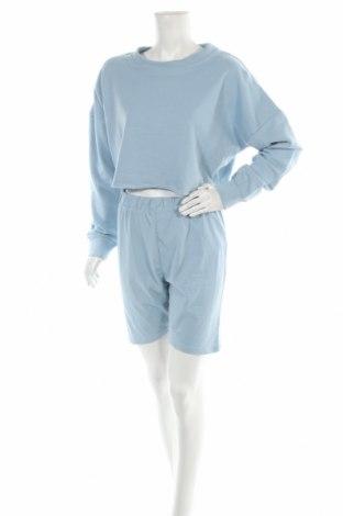 Дамски комплект Missguided, Размер M, Цвят Син, 55% полиестер, 45% памук, Цена 27,00лв.