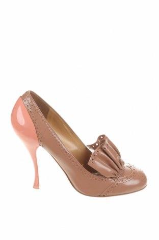 Dámské boty  Miu Miu, Velikost 37, Barva Béžová, Pravá kůže, Cena  3367,00Kč