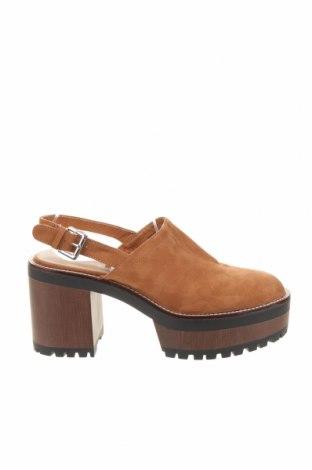 Дамски обувки Pull&Bear, Размер 41, Цвят Кафяв, Текстил, Цена 37,17лв.