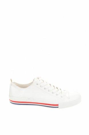 Γυναικεία παπούτσια Pull&Bear, Μέγεθος 39, Χρώμα Λευκό, Δερματίνη, Τιμή 11,52€