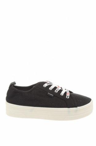 Γυναικεία παπούτσια Pull&Bear, Μέγεθος 39, Χρώμα Μαύρο, Κλωστοϋφαντουργικά προϊόντα, Τιμή 8,46€