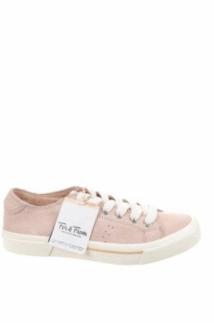Γυναικεία παπούτσια Pull&Bear, Μέγεθος 36, Χρώμα Ρόζ , Φυσικό σουέτ, Τιμή 14,25€