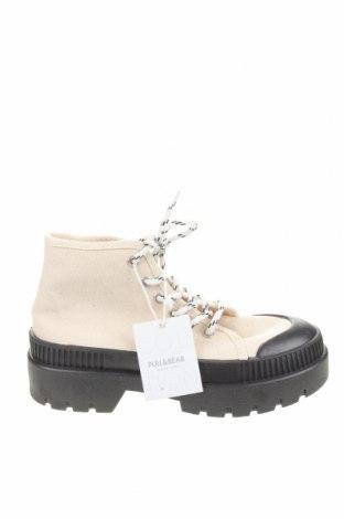 Γυναικεία παπούτσια Pull&Bear, Μέγεθος 36, Χρώμα  Μπέζ, Κλωστοϋφαντουργικά προϊόντα, Τιμή 18,50€