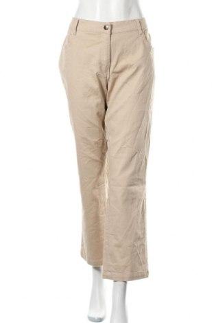 Дамски панталон, Размер XL, Цвят Бежов, 98% памук, 2% еластан, Цена 6,84лв.