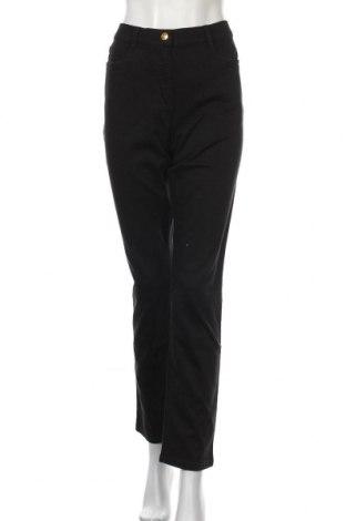 Дамски панталон Alfredo Pauly, Размер L, Цвят Черен, 91% памук, 6% полиестер, 3% еластан, Цена 10,29лв.
