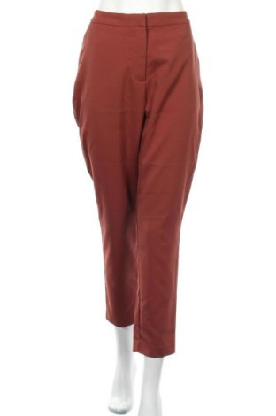Дамски панталон Aware by Vero Moda, Размер L, Цвят Кафяв, 97% полиестер, 3% еластан, Цена 51,75лв.