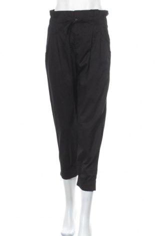 Pantaloni de femei Bershka, Mărime M, Culoare Negru, Bumbac, Preț 41,45 Lei