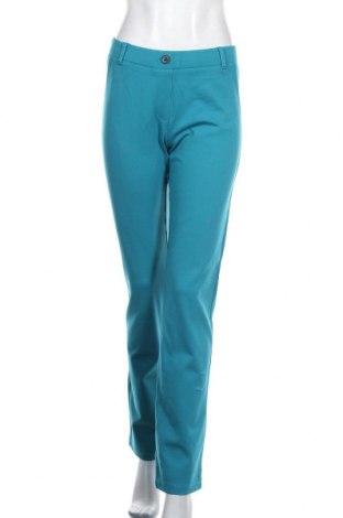 Дамски панталон Beta Brand, Размер L, Цвят Син, 68% вискоза, 27% полиамид, 5% еластан, Цена 10,92лв.