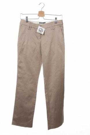 Дамски панталон Cotton Club, Размер XS, Цвят Бежов, 98% памук, 2% еластан, Цена 7,76лв.