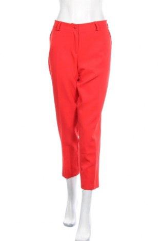 Pantaloni de femei Faina, Mărime L, Culoare Roșu, 60% poliester, 40% viscoză, Preț 36,32 Lei