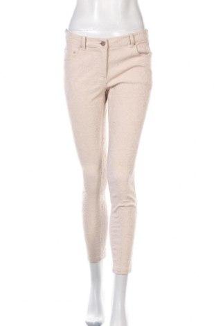 Дамски панталон H&M, Размер M, Цвят Бежов, 67% памук, 30% полиестер, 3% еластан, Цена 24,00лв.