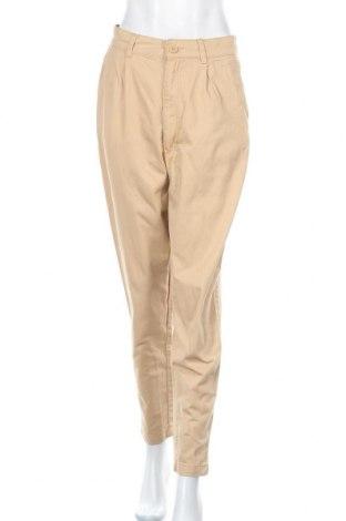 Дамски панталон H&M Divided, Размер M, Цвят Бежов, Памук, Цена 6,38лв.
