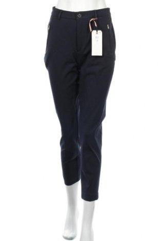 Дамски панталон Holly & Whyte By Lindex, Размер S, Цвят Син, 52% памук, 41% вискоза, 7% еластан, Цена 51,75лв.