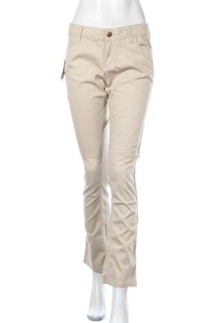 Дамски панталон Janina, Размер L, Цвят Бежов, 98% памук, 2% еластан, Цена 13,57лв.